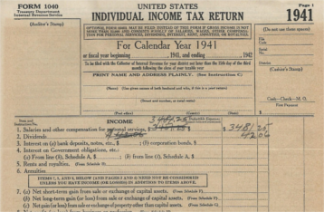Form 1040 of 1941